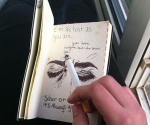 cigarette, grunge, and art image