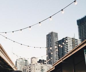 light, blue, and city image
