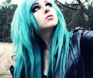 girl, blue hair, and blue image