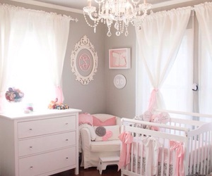 pink, room, and baby image