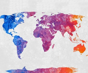world, map, and colorful image