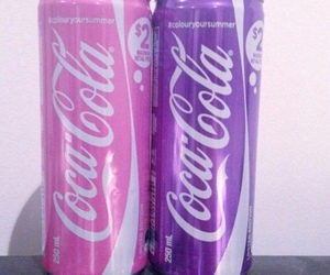pink, purple, and coca cola image