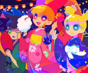 bubbles, powerpuff girls z, and anime image
