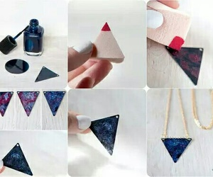 diy, triangle, and galaxy image