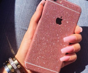 iphone, pink, and nails image