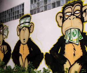 money, monkey, and art image