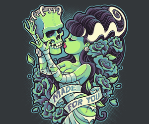 bride, tattoo, and Frankenstein image