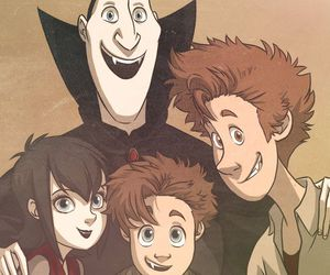 hotel transylvania, Dracula, and family image
