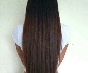 hair, long, and brunette image