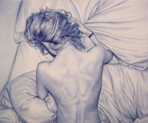 art, bed, and drawing image