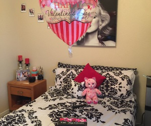 heart balloon, ray bans, and Valentine's Day image
