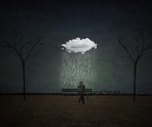 rain, clouds, and alone image