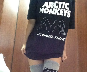 arctic monkeys, girl, and knee socks image