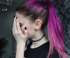 black, choker, and grunge image