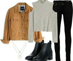 black, casual, and Polyvore image