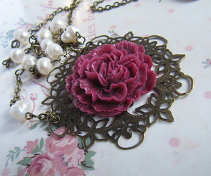 europe, flower, and flower necklace image
