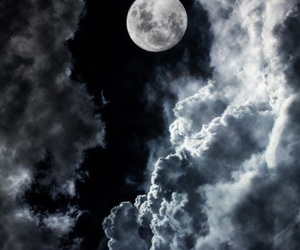 moon, night, and clouds image