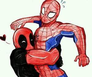 deadpool, spider-man, and marvel universe image