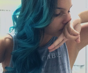 blue hair, colored hair, and dyed hair image