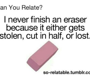 eraser, funny, and true image