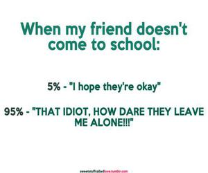 friends, funny, and school image