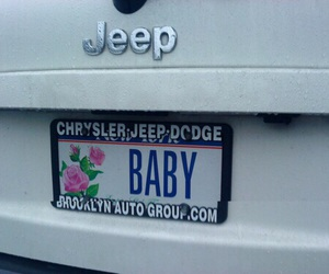pale, baby, and jeep image