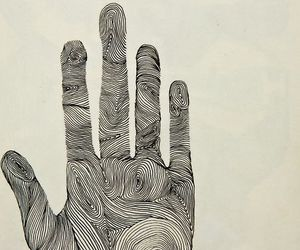hand, art, and lines image