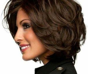 brown, hair, and short image