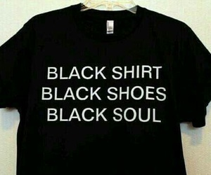 black, soul, and shirt image