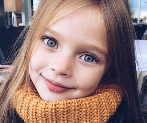 girl, kids, and eyes image