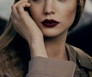 lips, lipstick, and model image