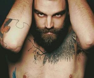 beard, men, and tatoo image