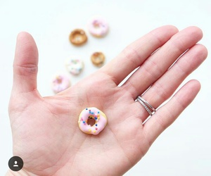 donut, food, and miniature image