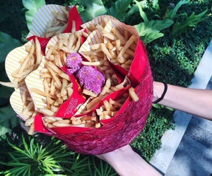 fries, valentine, and love image