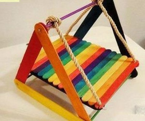 diy projects, kid crafts, and ice cream sticks image