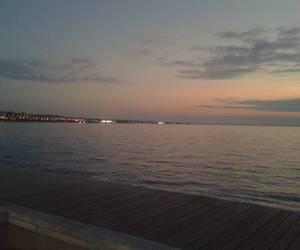 Greece, sea, and sunset image