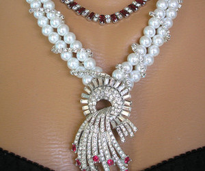 art deco, vintage bridal, and assemblage jewelry image