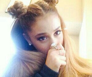 arianna grande and space buns image