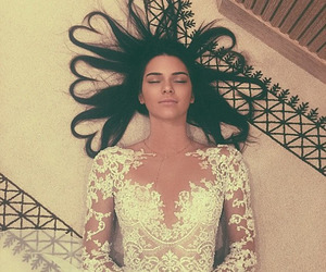 kendall jenner, hair, and dress image