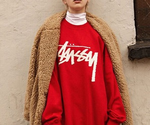 fashion, red, and street image