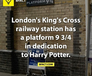 harry potter, london, and king's cross image