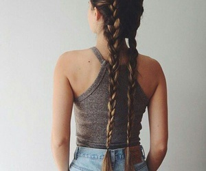 beauty, braided, and braids image