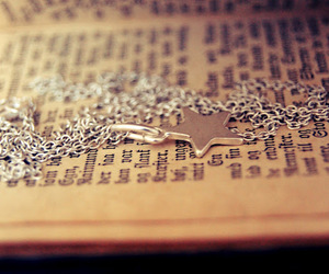 blog, book, and necklace image