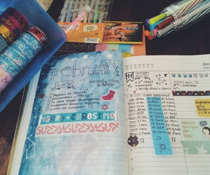 color, diary, and diy image