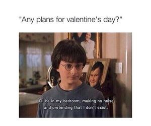 harry potter, funny, and Valentine's Day image
