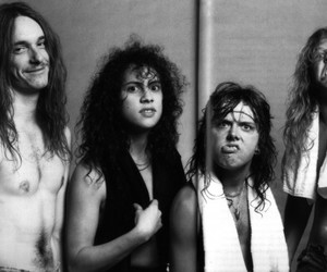 metallica, James Hetfield, and cliff burton image