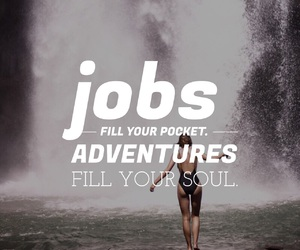 quote, adventure, and job image