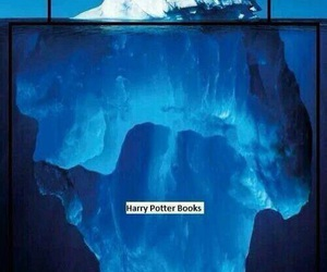 iceberg, book, and harry potter image