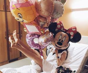 balloons and minnie mouse image