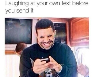 Drake, funny, and laughing image